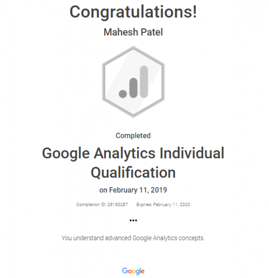 Analytics Certification