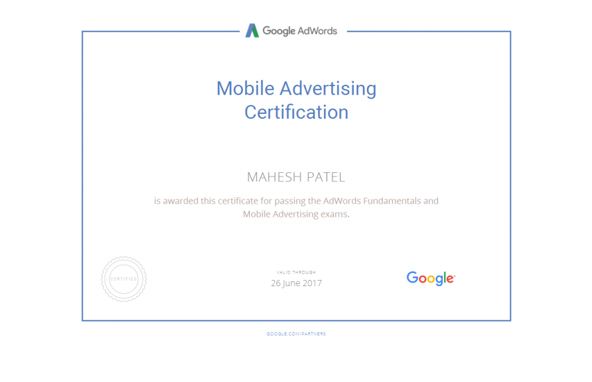 Mobile Advertising Certificate